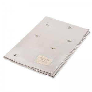 Bee and Stripe Tea Towel
