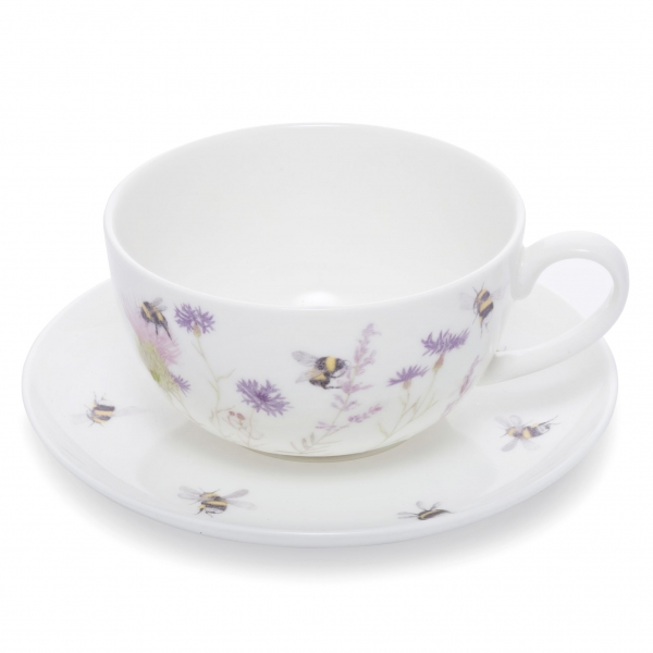 Bee and Flower Cup and Saucer