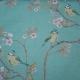 Blue Tit on Blossom Azure Sky Fabric