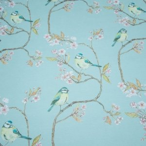 Blue Tit on Blossom Azure Sky Wallcovering