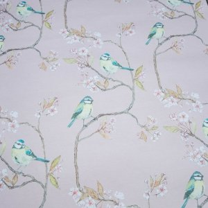 Blue Tit on Blossom Blush Wallcovering