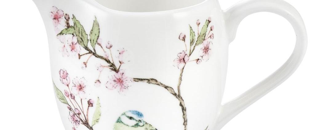 Blue Tit on Blossom Creamer Jug