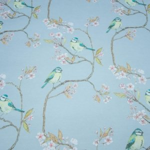 Blue Tit on Blossom Dawn Sky Wallcovering