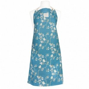 Blue Tit on Blossom Ditsy Print Apron (Denham Blue)