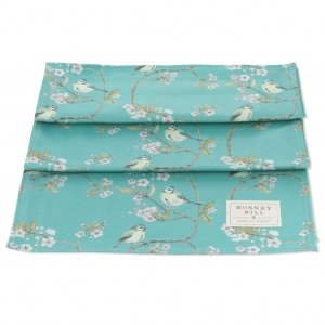 Blue Tit on Blossom Ditsy Print Table Runner