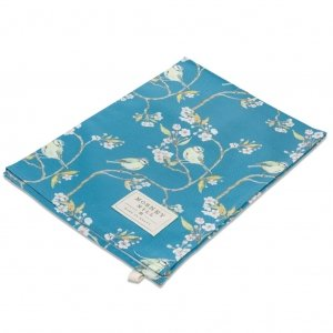 Blue Tit on Blossom Ditsy Print Tea Towel