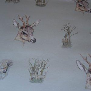 Deer Wallpaper Fawn Wallcovering