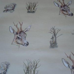 Deer Wallpaper Harvest Wallcovering