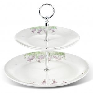 Edgar Green two tier cake stand