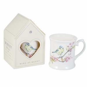 Large Blue Tit on Blossom China Mug