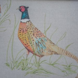 Large Pheasant Fabric (per metre) Large Pheasant Fabric