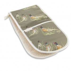 Pheasant Double Oven Gloves Sage Green