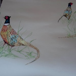 Pheasant Wallcovering Harvest
