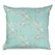 Turquoise Blue Tit o Blossom Cotton Cushion