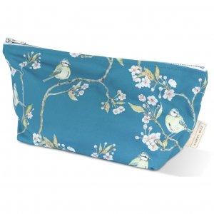 Blue blue tit on blossom wash bag