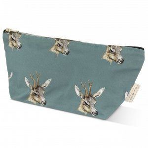 Deer wash bag in teal