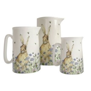Hare and wildflower jug