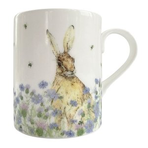 Hare & Wildflower Staffordshire China Mug