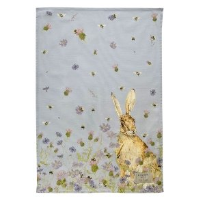 Hare & Wildflower Tea Towel