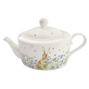 Hare & Wildflower Teapot